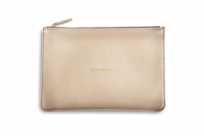 Katie Loxton GOOD AS GOLD Perfect Pouch Clutch Bag - Metallic Gold